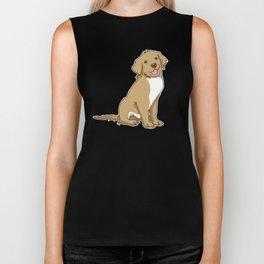 Golden Retriever Puppy Hound Gift Biker Tank