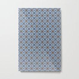 Blue Tiles Metal Print