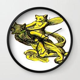 Fairy Fox riding a Demon Wall Clock