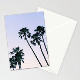 Palm Springs Palm Trees - Palm Tree Sky Print - Minimalist Art - Palm Print - Palm Tree Photo - Pastel Sky Print Stationery Cards
