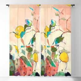 lemon tree Blackout Curtain