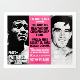Classic Boxers Bound to Fight Art Print