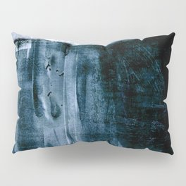Indigo Blue and White Minimalist Abstract Painting Pillow Sham