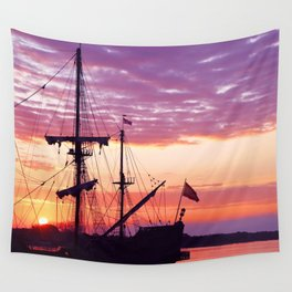 Sunrise over El Galeon Wall Tapestry