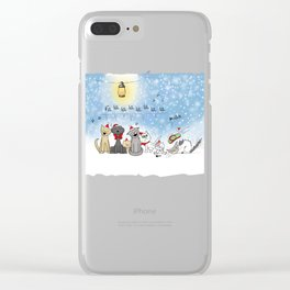 Christmas cats Clear iPhone Case