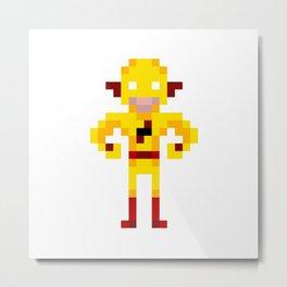 Pixel Yellow Speedster Metal Print