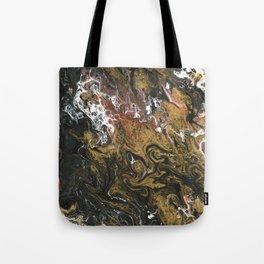 Golden Seas 2, abstract poured acrylic Tote Bag