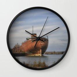 John Sherwin Great Lakes Freighter Wall Clock