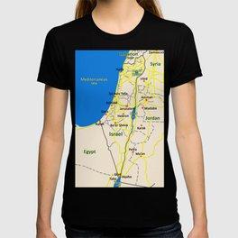 Israel Map design T-shirt