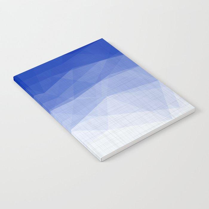Imperial Lapis Lazuli - Triangles Minimalism Geometry Notebook