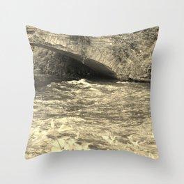 Antique Bridge Throw Pillow