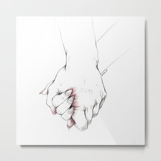 Untitled Hands No. 14 Metal Print