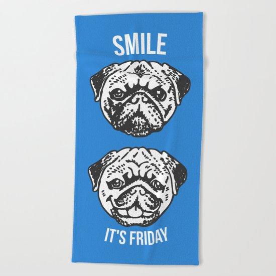 Smile It's Friday! Beach Towel