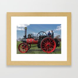 Chieftain traction engine Framed Art Print