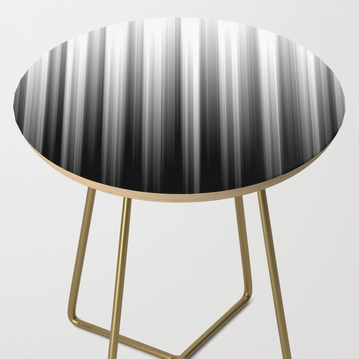Black And White Soft Blurred Vertical Lines - Ombre Abstract Blurred Design Side Table