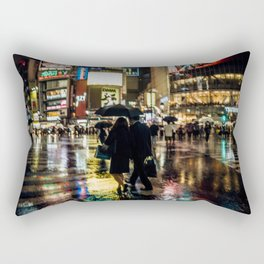 Love actually is all around - Rainy Night at Shibuyacrossing Rectangular Pillow