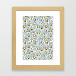 Snowy Owls. Framed Art Print