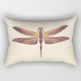 Art Nouveau Dragonfly In Purple Rectangular Pillow