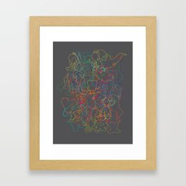 50 Animated Characters  Framed Art Print