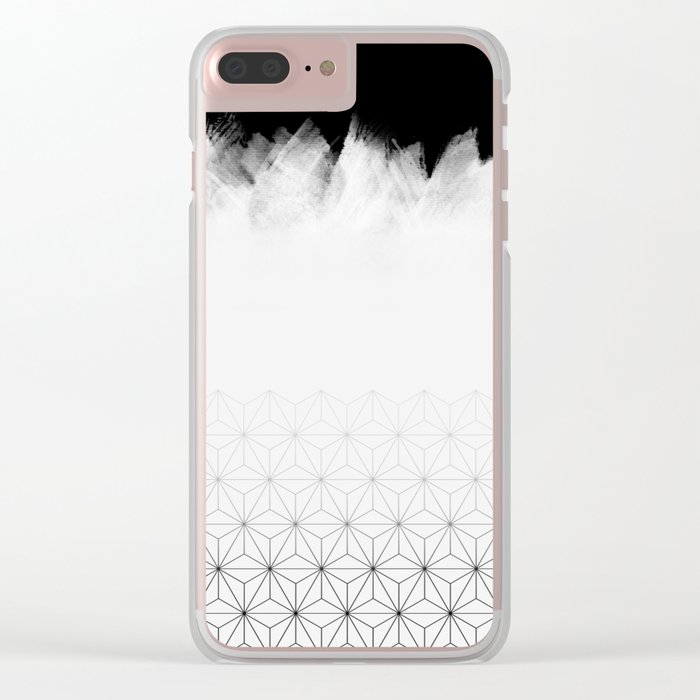 Christmas Geometric Pattern Clear iPhone Case