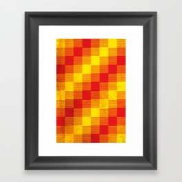 Rusty yellow and red motive Framed Art Print