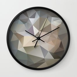 "Low-Poly Digital Art ""Spring Storm"" Wall Clock"