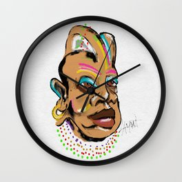 Mardi Gras - Fat Tuesday Wall Clock
