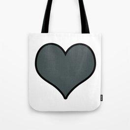 PPG Paint Night Watch Heart Shape with Black Border Digital Illustration, Minimal Art Tote Bag