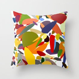 Colorful pebbles Throw Pillow