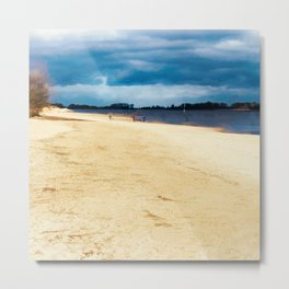 Walk on the riverside Metal Print