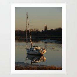 Alresford Creek, Essex Art Print