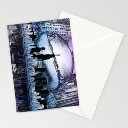 chicago city skyline Stationery Cards