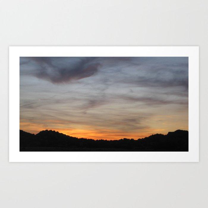 New Mexico Sunset #1 Art Print