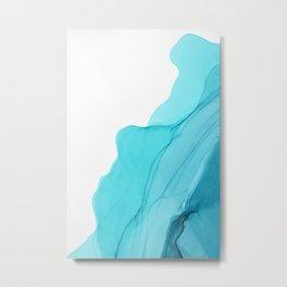 Aqua Ink Composition Metal Print