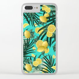 Summer Lemon Twist Jungle #1 #tropical #decor #art #society6 Clear iPhone Case