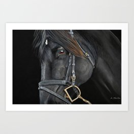 English Horse in Pastel Art Print
