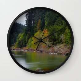 Autumn On Grizzly Creek Wall Clock