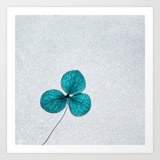 blue clover Art Print
