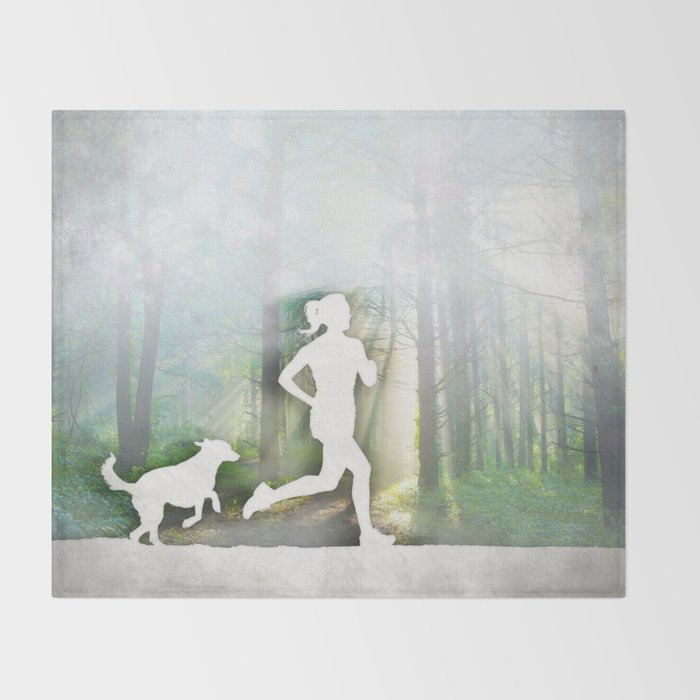 Forest Run Throw Blanket