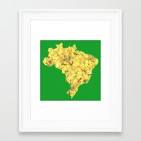 brazil Framed Art Prints featuring Brazil by Ursula Rodgers