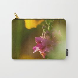 Pink Snapdragon Flower Carry-All Pouch