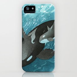 Mother & Baby Orca iPhone Case