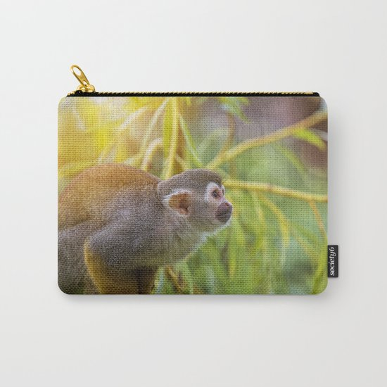 Squirrel Monkey wild animal in sunlight Carry-All Pouch