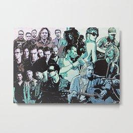 Rock Triptych Panel A Metal Print