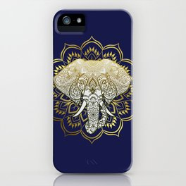 Golden Mandala Elephant iPhone Case