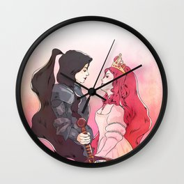 princess and knight Wall Clock