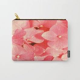 Pink Hydrangea Yellow Mellow flower pattern Carry-All Pouch