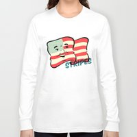 stripes Long Sleeve T-shirts featuring Stripes by Derek Eads