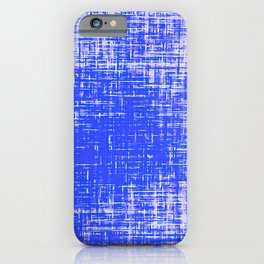 Woven Cerulean Blue and White Abstraction iPhone Case