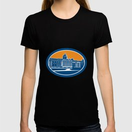 National Gallery London Building Retro T-shirt